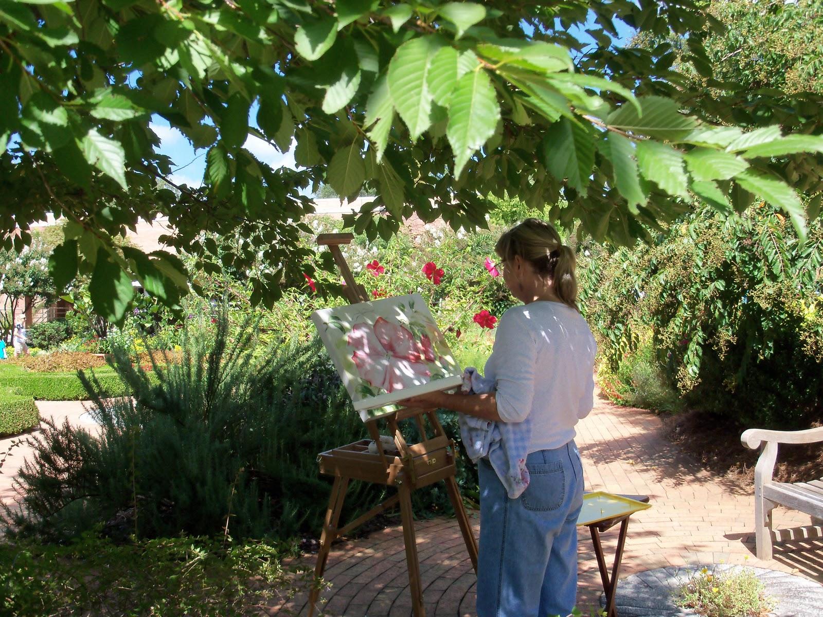 Dawn kinney martin plein air painting at the botanical - Atlanta botanical garden membership ...