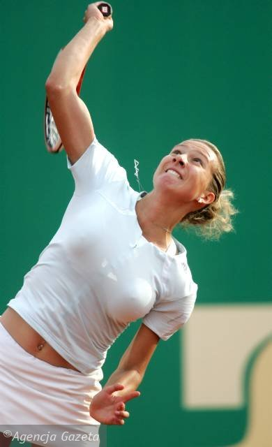 Tennis player with huge tits