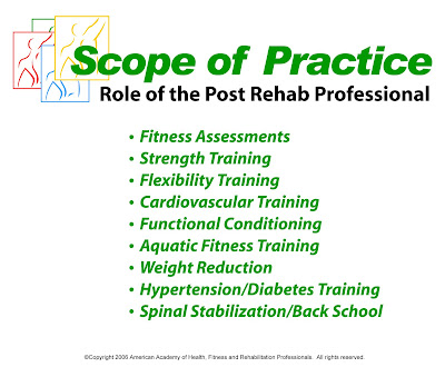 Do you know the post rehab scope of practice?