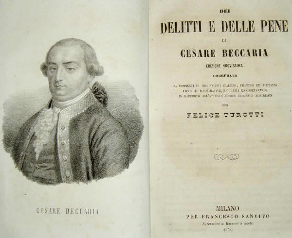an essay or dissertation relating to violations in addition to punishments cesare beccaria