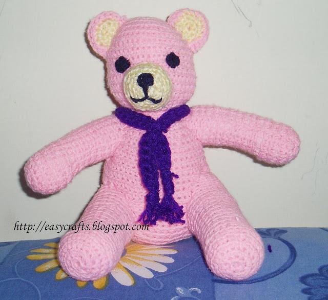 Easy Crafts - Crochet: Crochet Teddy bear