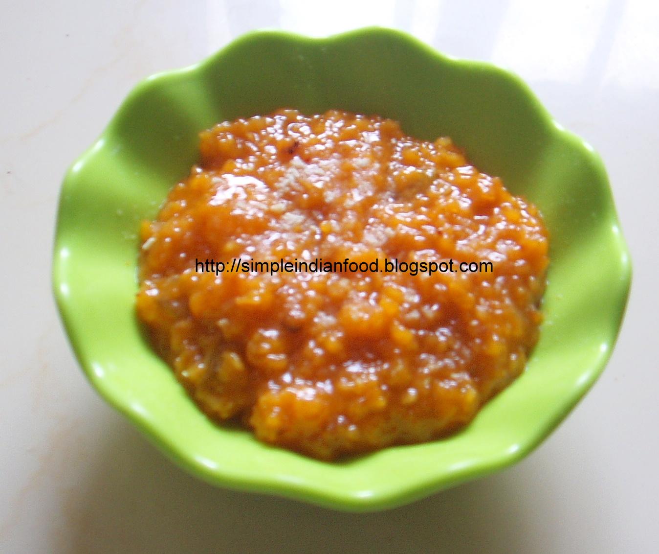 Simple Indian Food- An Easy Cooking Blog: Oats kesari