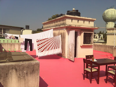 Pune India home roof terrace laundry