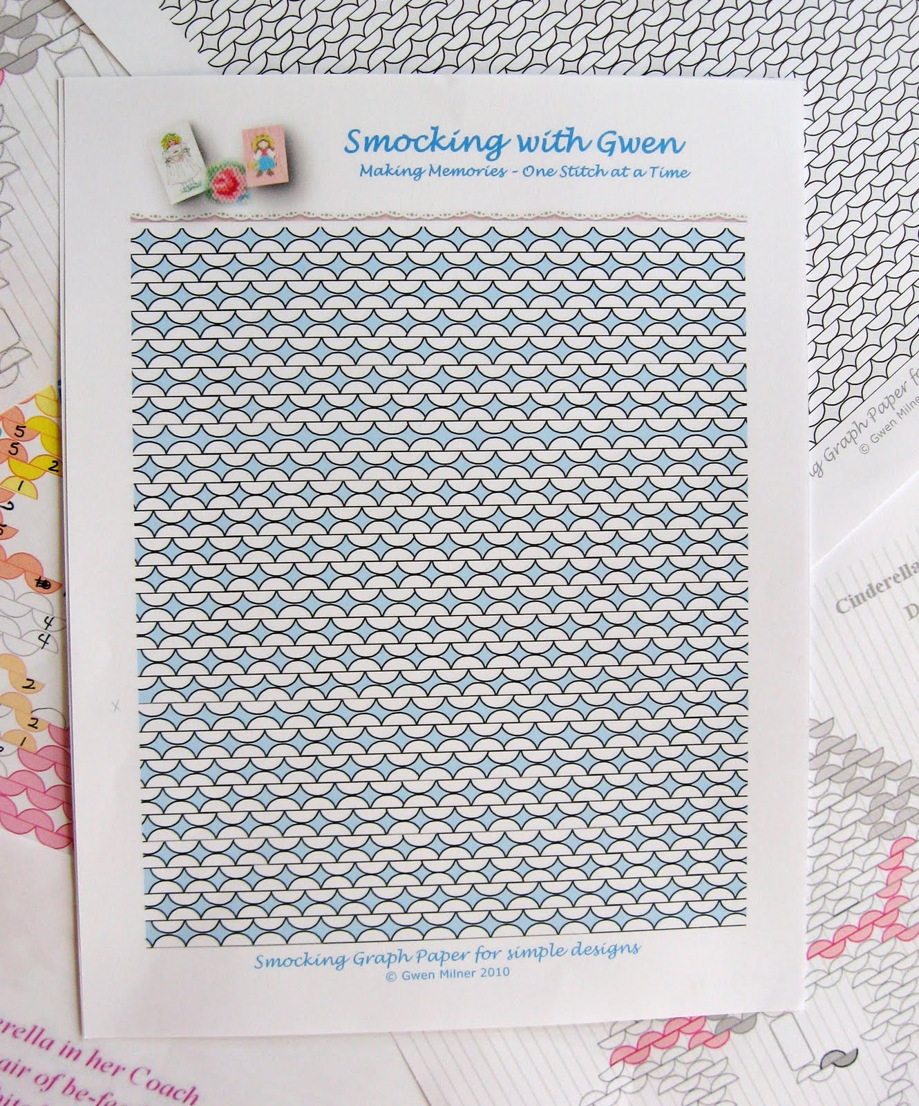 Smocking With Gwen Picture Smocking Graph Paper To Share
