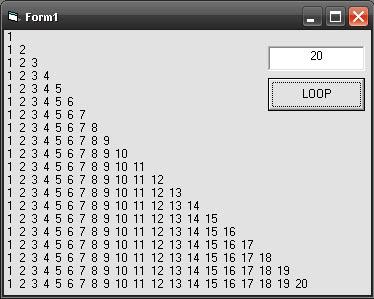 Contoh Program Looping Sederhana Visual Basic