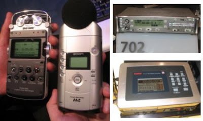 Comparing the Sony PCM-D50, Fostex FR2-LE, Zoom H4 and Sound Devices 702
