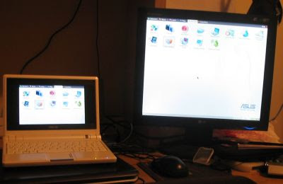 Eee PC + external monitor = awesome