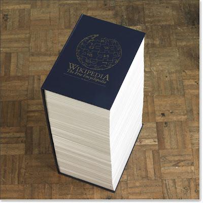 Wikipedia em formato de livro