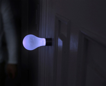 Design conceito: maçaneta lâmpada