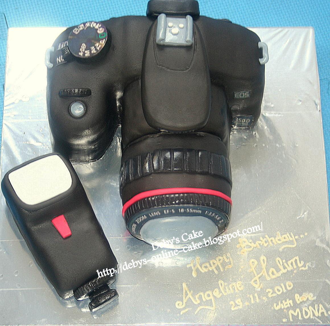 Butterfly Cake Camera Cake Canon Slr