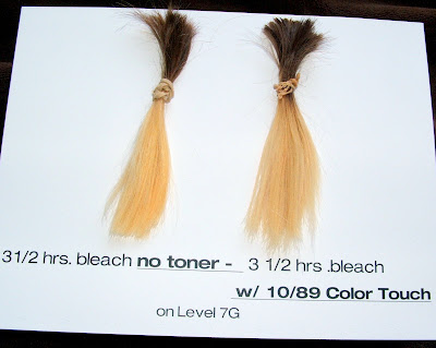 The Bleach Toy 8 Hair Swatches Lightened for Learning ...