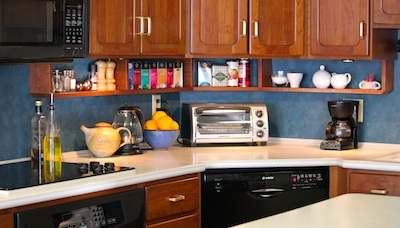 Under Cabinet Shelving Kitchen Redesign Ideas Ashbee Design Extra Storage My Shelves Are Just 6 5 Inches High And 4 Deep They Hold So Much I Keep Things Need Easy Access To In This Often Used Space Salt