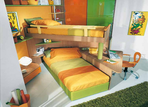 Home Design Interior Furniture Bedroom For Small Room 2 Beds