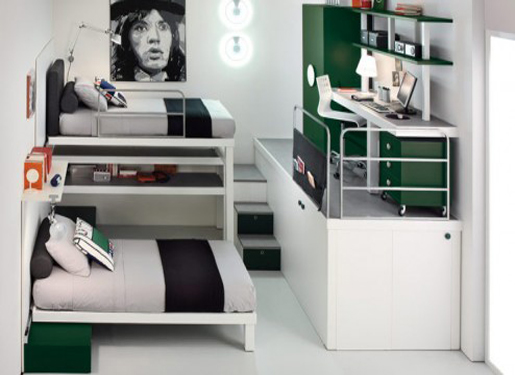 Double Bed Bedroom Decorating Ideas Where The 2 In 1 With Beds That Has A Cool And Unique Design Layout Fits
