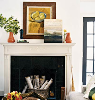 Ohmigosh design blog non working fireplace no problem - Non working fireplace decor ...