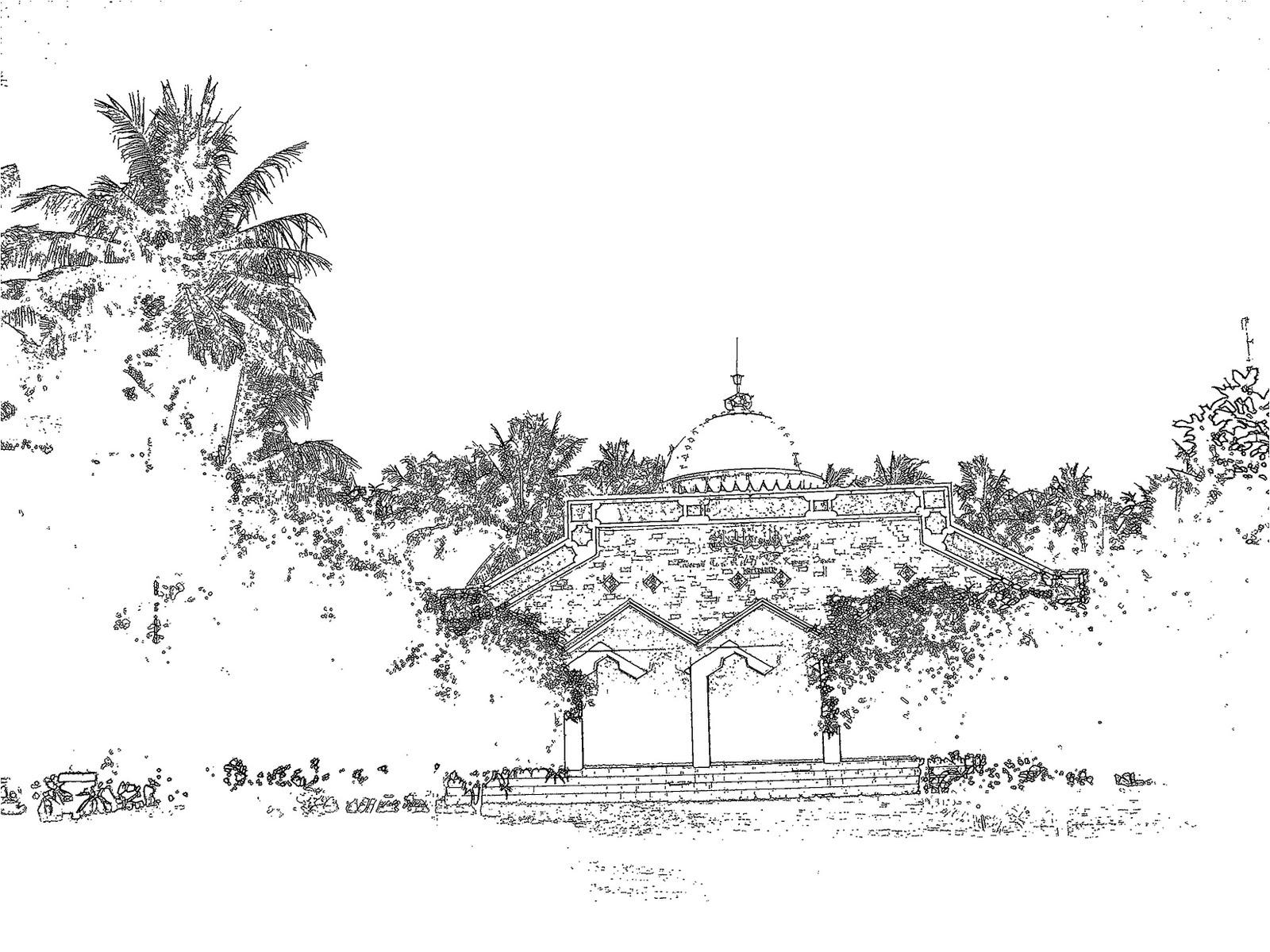 Stunning Cliparts Clipart Masjid Hitam Putih 6