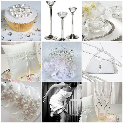 Crystal And White Wedding Theme: Your Wedding Support: GET THE LOOK