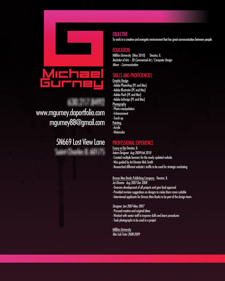 Resume Examples For Graphic Designers
