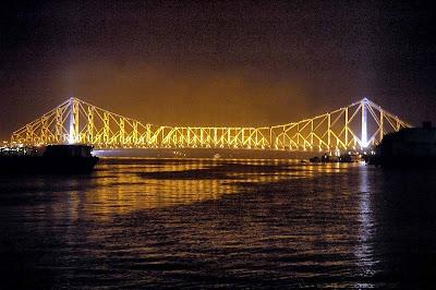 howrah bridge night