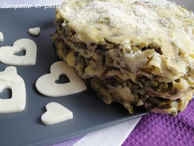 Lasagne con zucchine e prosciutto - Primo piatto San Valentino