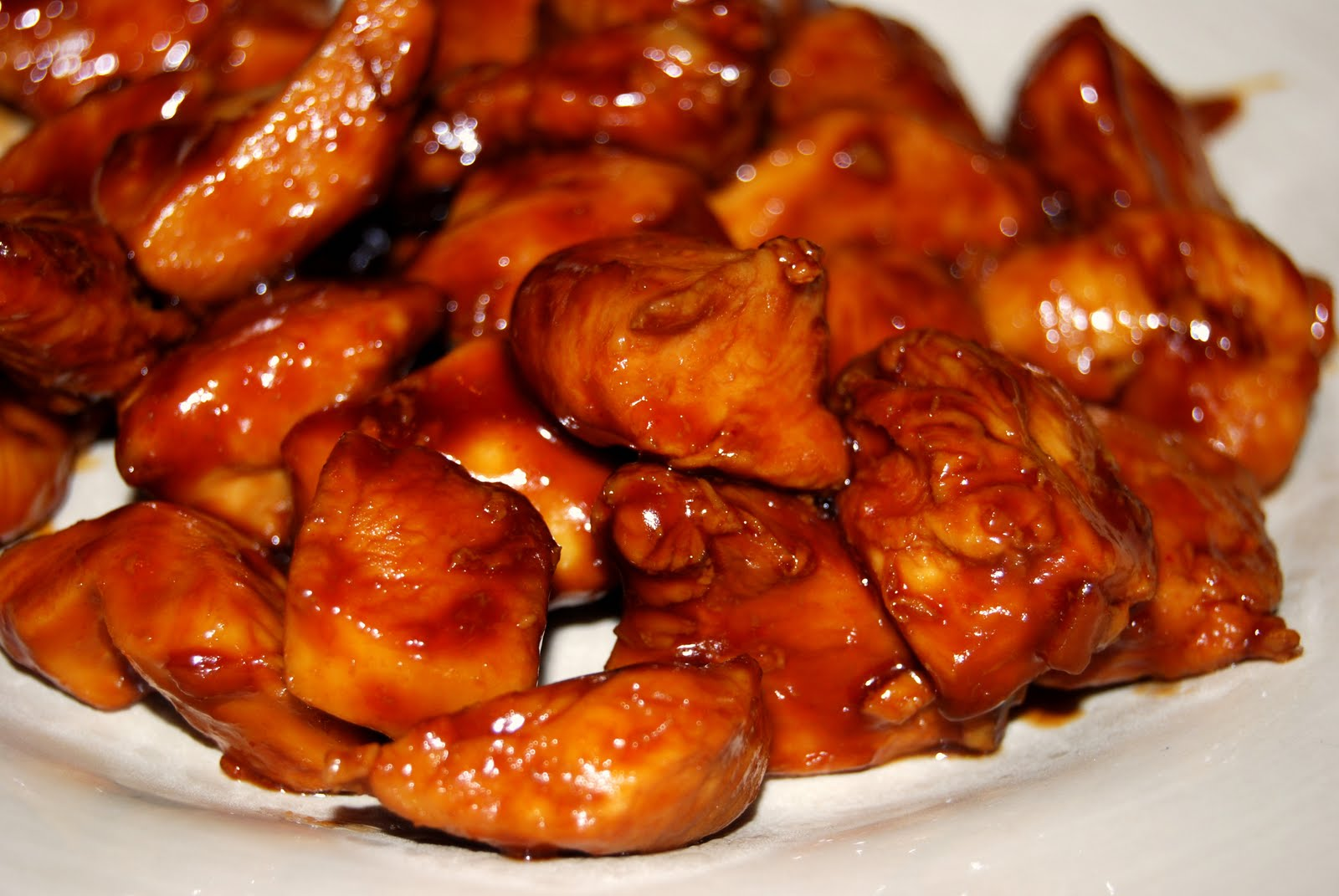 Image result for Bourbon chicken