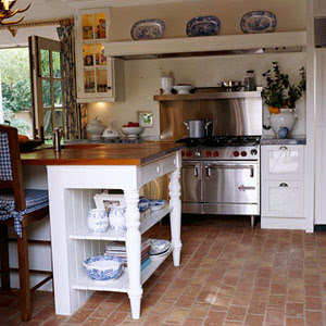 Brick Floor Kitchen Cabinet Pull Outs Whitehaven Kitchens With Floors Image Via And Bath Ideas