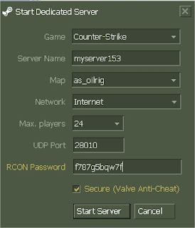 Start dedicated server cs 1.6 download