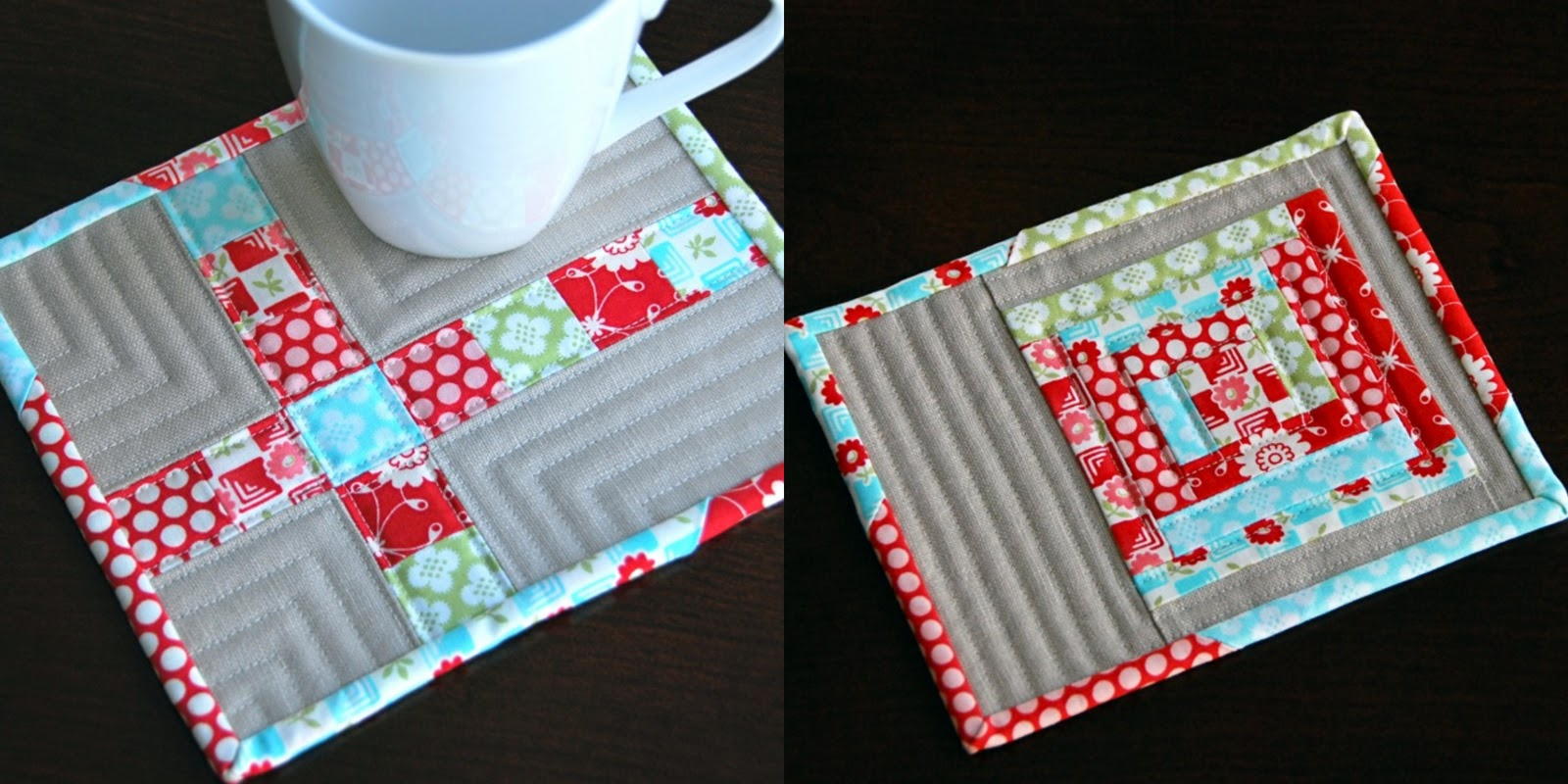 Pin Sew Press Another Mug Rug And Tips For Sewing With Linen