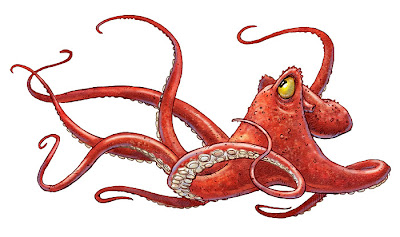angry octopus drawing - photo #22