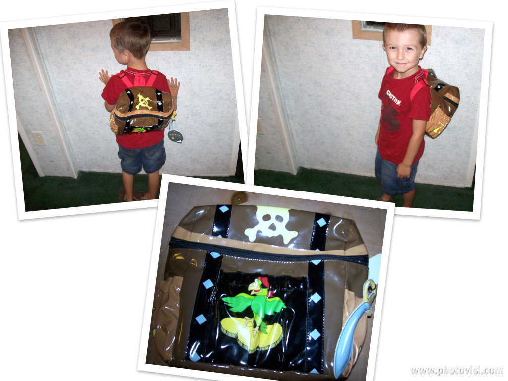 16017c300ee The design of the Pirate Backpack is just as adorable as the other products  on the website. Shaped like a treasure chest, the top/lid unzips to reveal  ample ...