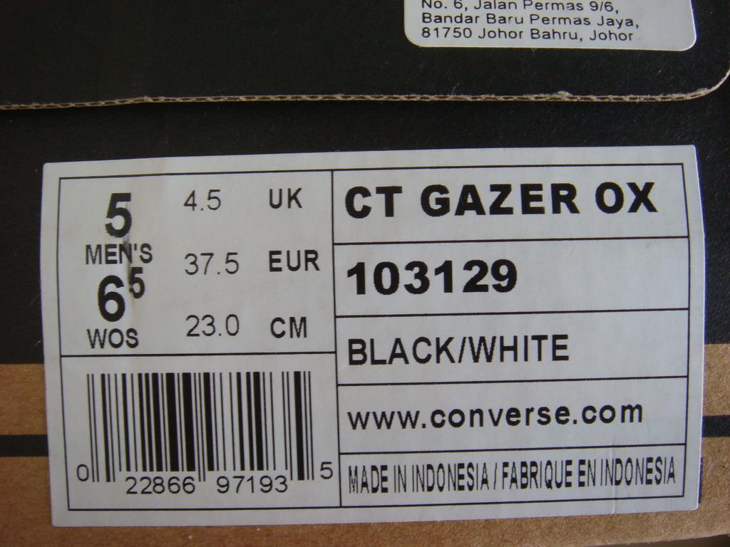 AlphaProject: Converse AllStar Gazer Ox