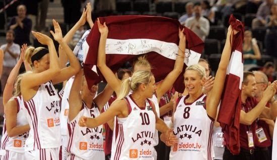 Latvian Women Basketball Team Is 7