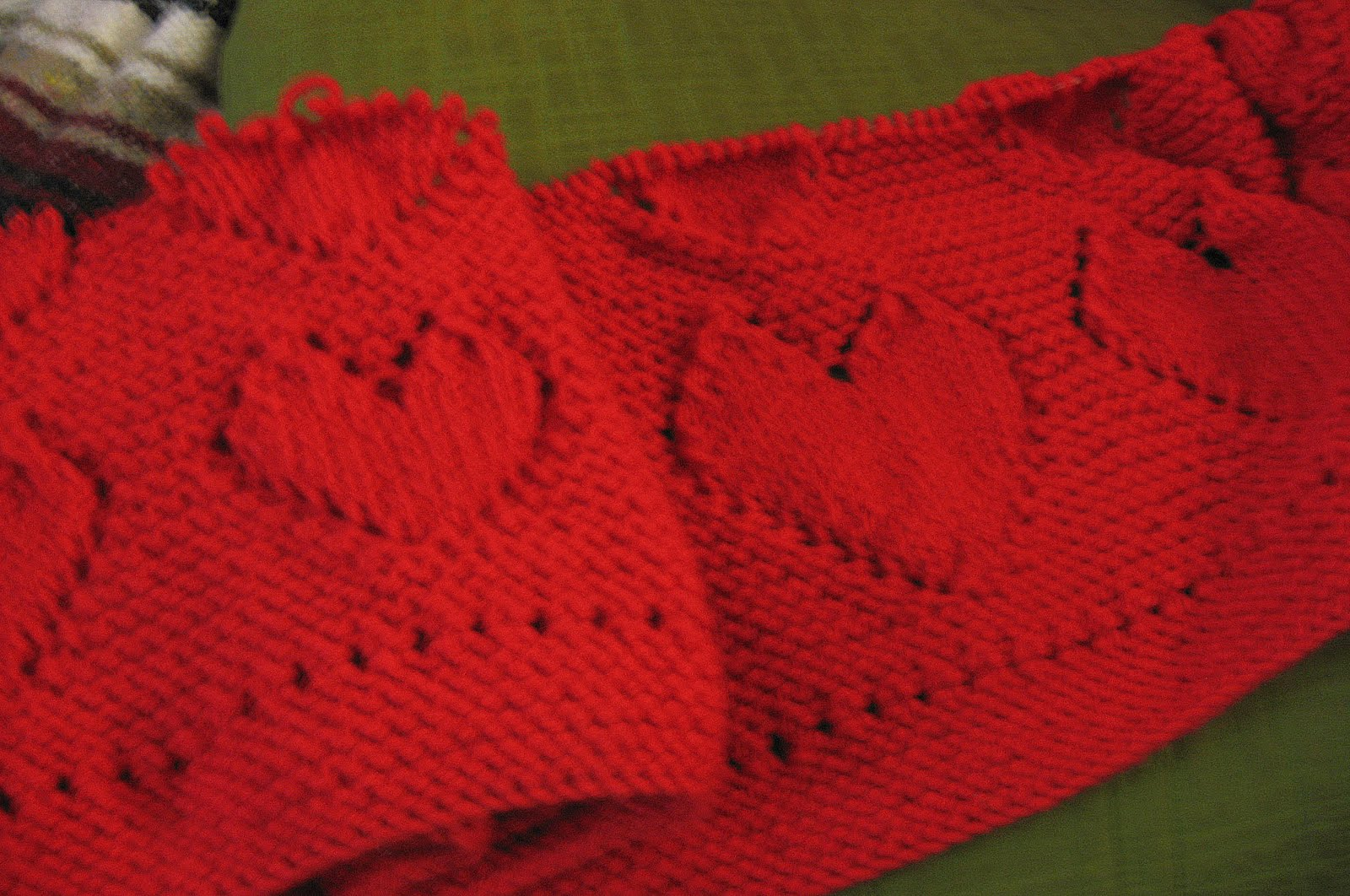 ... same pattern twice i think i ve started knitting a hearts blanket from