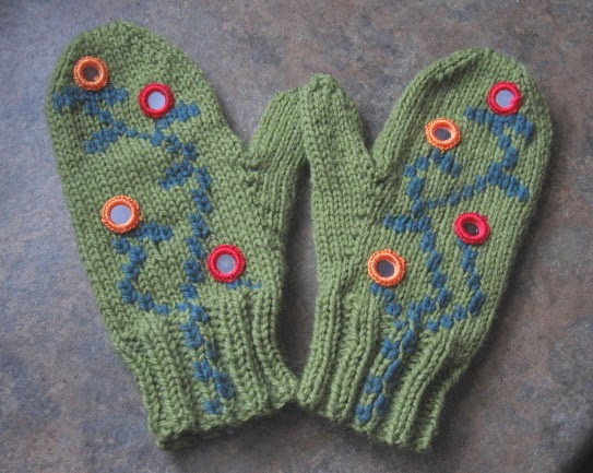 My Knitting Basket Pair Of Mittens 1 Finished 51 Pairs