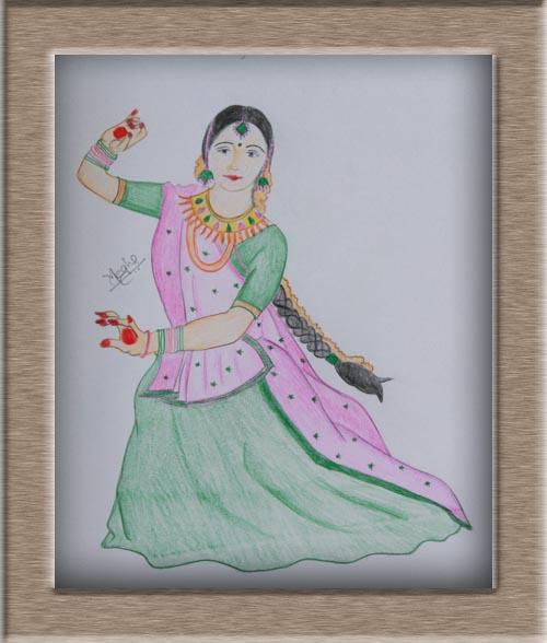 Art On Sketchbook By Megha Chhatbar Classical Dance Of India Kathak