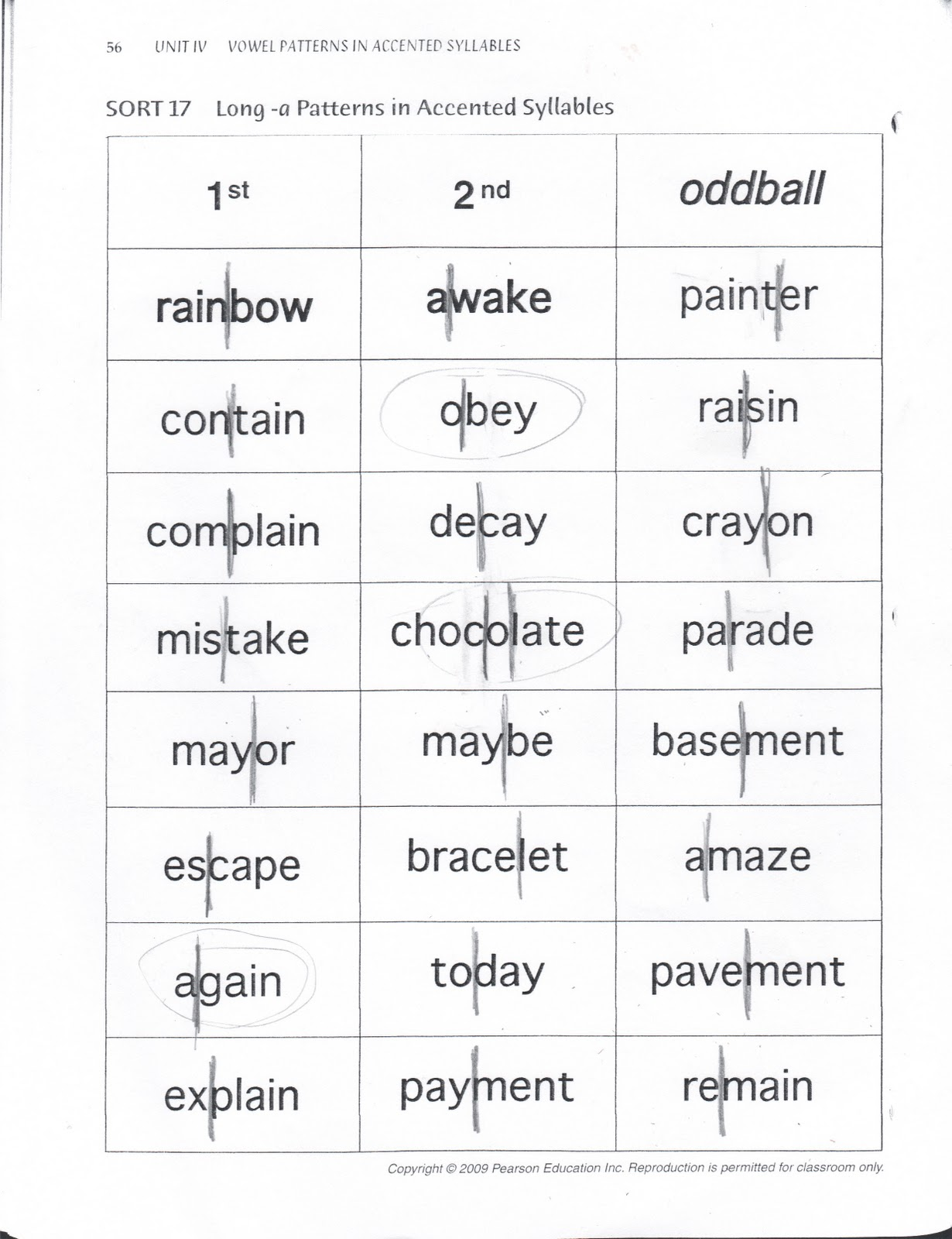 Mr B S Class Word Study Sorts