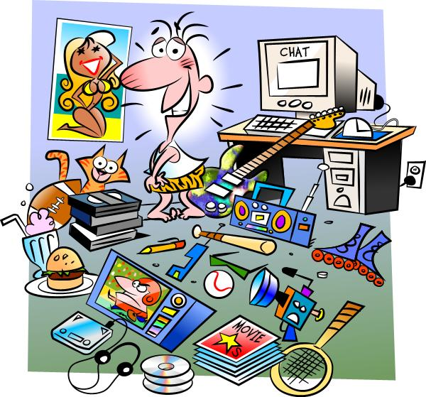Clip Art Messy Kitchen: English Exercises: Messy Room