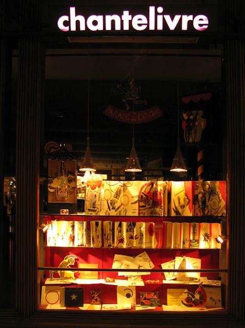 exposition cirque de Brigitte Rio, librairie Chantelivre, 2010