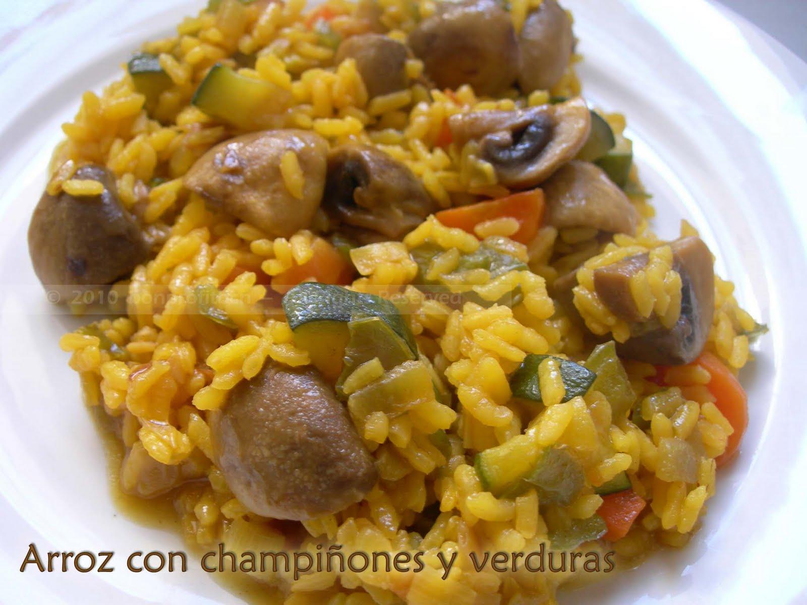 Bon profit arroz con champi ones y verduras - Arroz con pescado y verduras ...