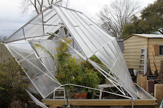 Between Then And Now The Greenhouse Had Suffered Several Smaller Wind Storms While I Did Not Lose Anymore Panels Doors Come Off Again