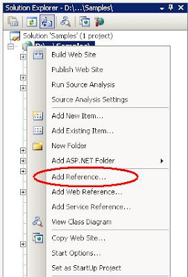 Avinash: How to add reference of a DLL/Assembly registered