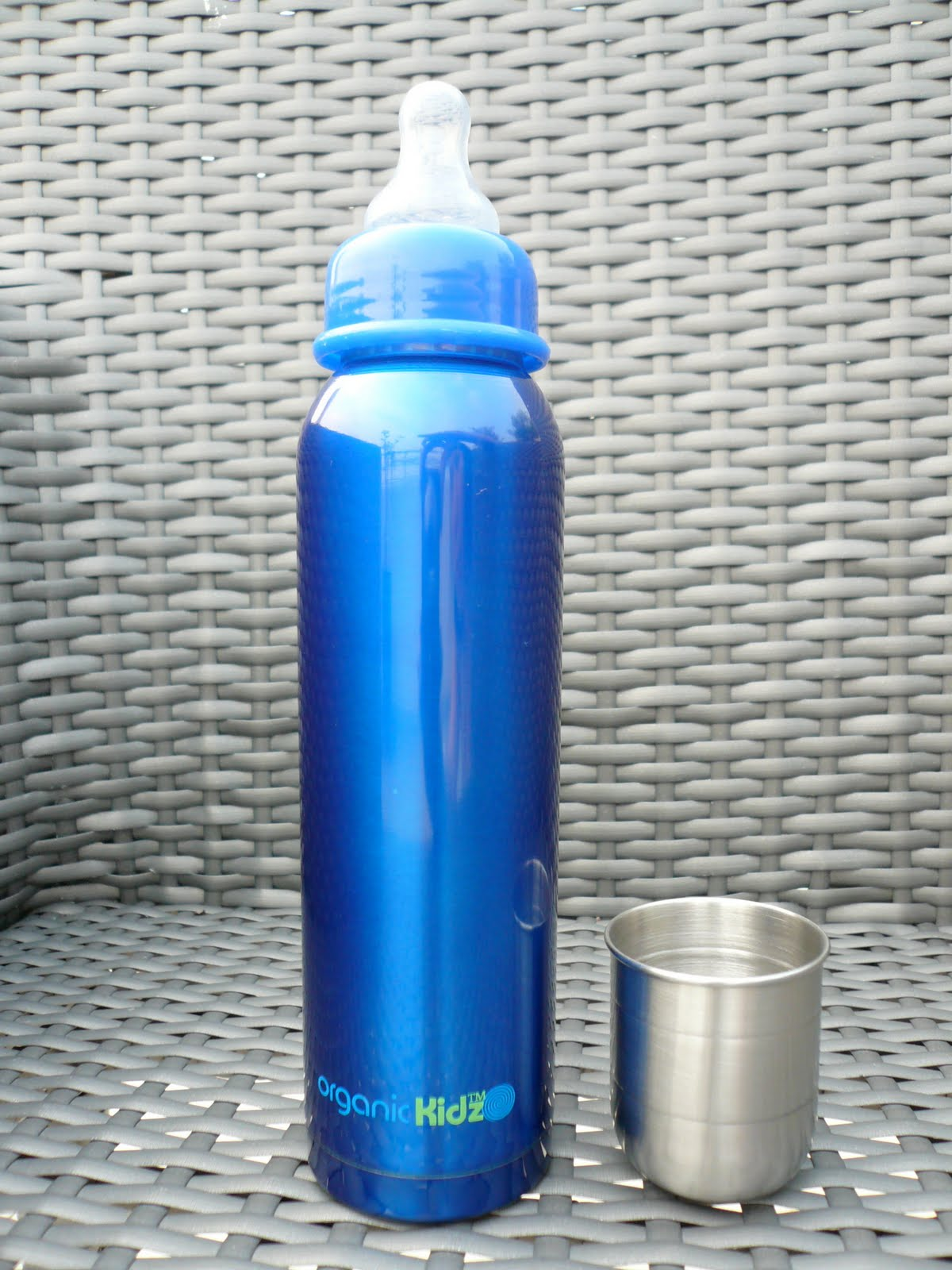 Little Green Sprouts Super Cool Stainless Steel Baby Bottles
