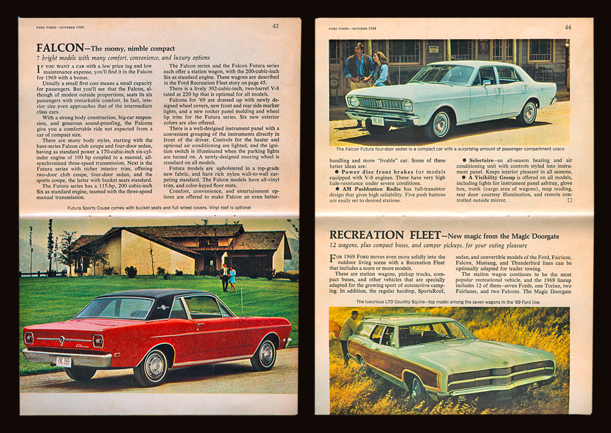 casey/artandcolour: Ford's Fine Feathered Friends—1969 Style