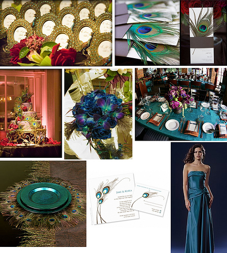 to have and to hold.: Peacock Wedding Theme.