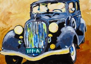 car painting | bruce docker | gangster art