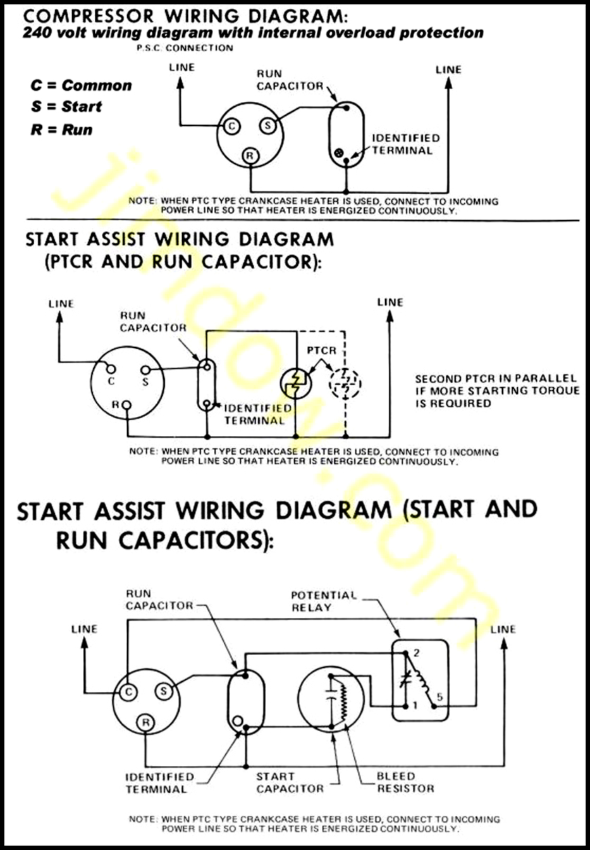3 wire compressor wiring diagram 3 wire distributor wiring diagram pe463 acg: air condition diagram