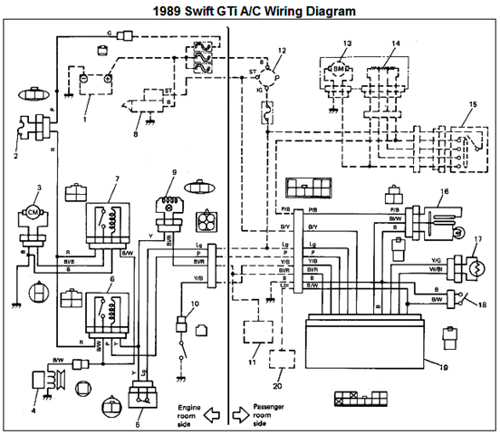 suzuki swift wiring diagram 2000 acg: air condition diagram #6