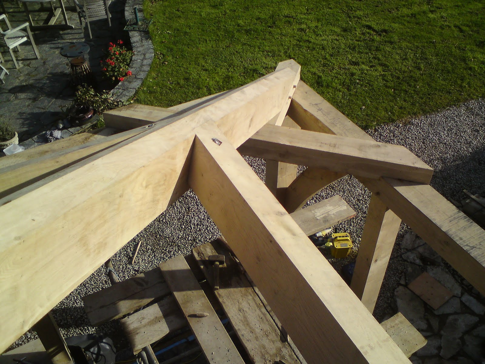 Trengayor Woodworks Green Oak Frame Extension With Hipped
