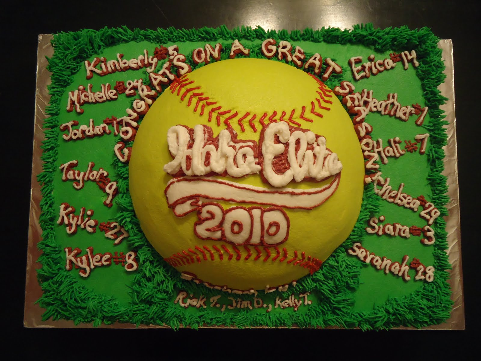 Cat S Cake Creations Softball Team Party Cake