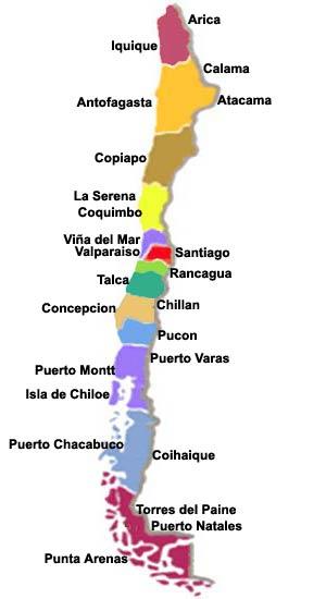 Mapa de las regiones de Chile - Didactalia: material educativo